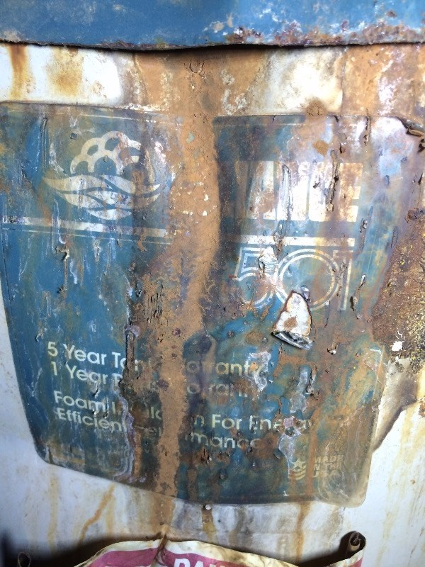 Water heater failure from corrosion
