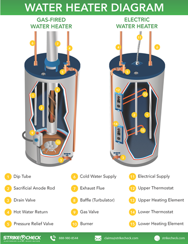 Labeled water heater diagram strikecheck strikecheck labeled water heater diagram ccuart Gallery