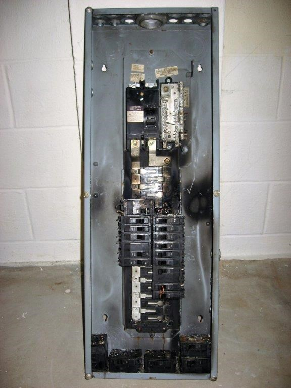 Damaged Electrical Panel