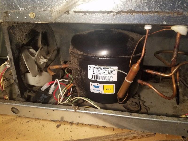 Refrigerator Damage - Dirty fan motor