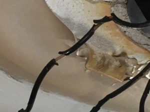 Electrical wiring - burned insulation found during testing